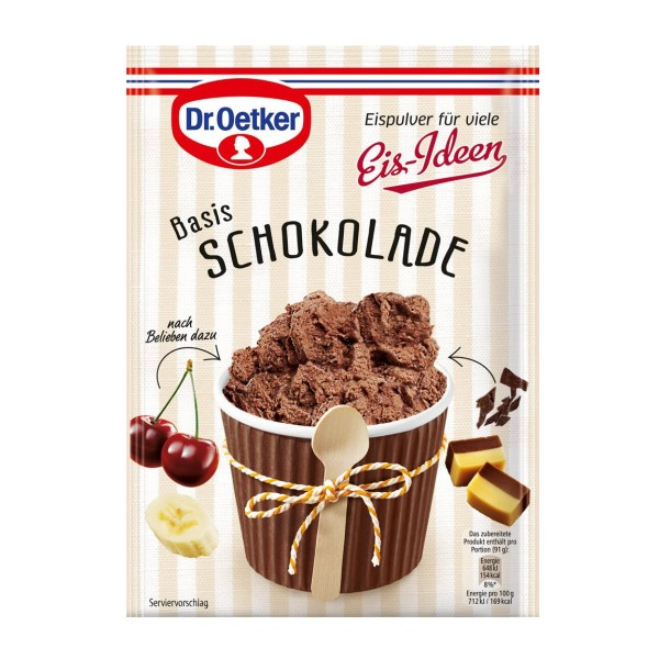 Dr. Oetker Eispulver Basis Schokolade