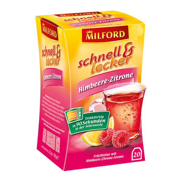Milford schnell & lecker Himbeere-Zitrone