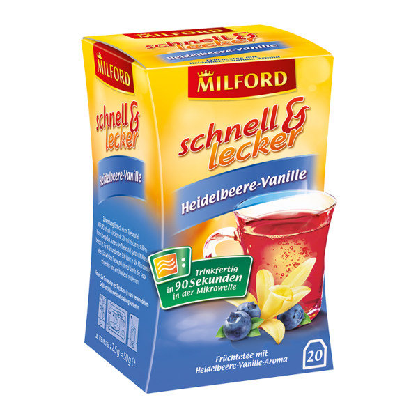 Milford schnell & lecker Heidelbeere-Vanille